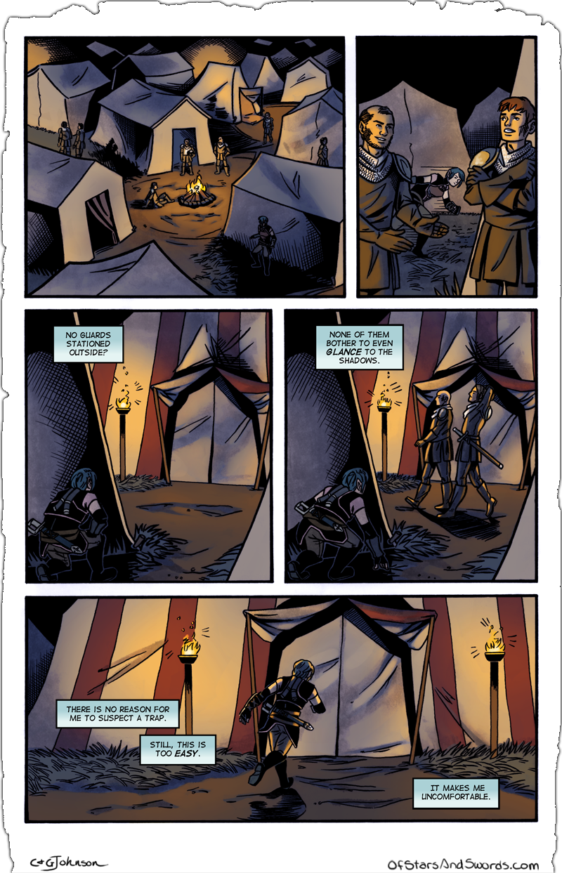 Issue 2 – Page 8: Into the Camp